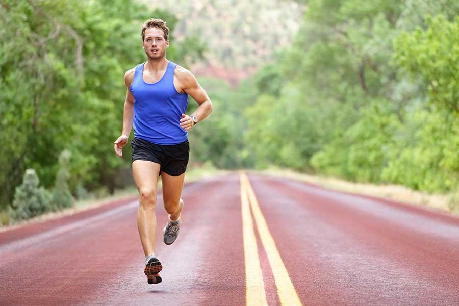 springa med iläggsulor